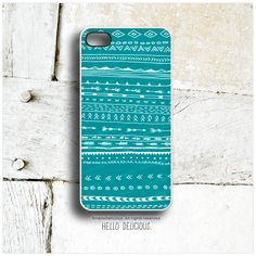iPhone 5 Case Teal Doodle Print iPhone 5s Case by HelloDelicious, $19.00