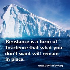 Resistance is a form of Insistence...