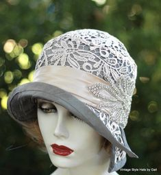 Creations by Gail Vintage Style Hats Edwardian to the 1920 s Cloche 357ebd6e9feb