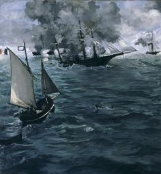 Édouard Manet - The Battle of the Kearsarge and the Alabama [1864]