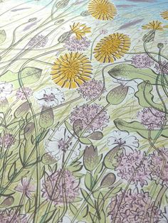 A detail from Angie Lewin - Saltmarsh, Morston - screen print - Norfolk Illustration Art Drawing, Art Drawings, Lino Print Artists, Angie Lewin, Printmaking, Screen Printing, Norfolk, Detail, Prints