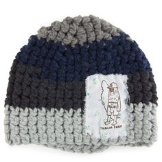Thalia Surf Dirty Dogs Patch Crochet Beanie