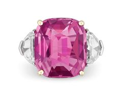 Estate Sapphire Jewelry, Pink Sapphire Jewelry, Ceylon Pink Sapphire Ring at rauantiques.com