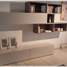 Parete attrezzata soggiorno moderno a Riccione