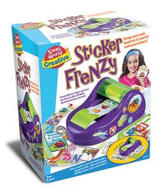 Crafty children's curiosity will be sparked with oodles of colorful laminated stickers that come in different shapes and sizes. With this kit, they can even use their own photos to make decals. This fun activity is a great creative project for rainy days or any day! Includes 100 illustrations, letters, numbers for creating stickers, CD labels, tags, sticker machine, roll of sticker paper, roll of transparent film, roller and tool cardRecommended for ages 6 years and olderImported