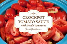 This simple crockpot tomato sauce takes little effort. It is easy to fill the crockpot up with fresh tomatoes, onions, and garlic and let it simmer all day.