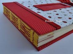 Handmade book / bookbinding - Ladybug Album - Handbound book - Handbound Journal