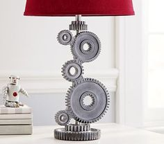 Gear Lamp Base #pbkids boys lamp at pottery barn