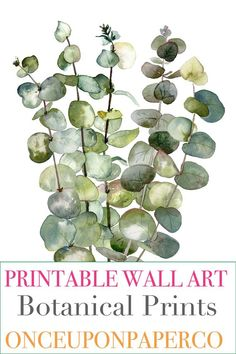 Ideas Watercolor Art Wallpaper Free Printable For 2019 Metal Tree Wall Art, Leaf Wall Art, Leaf Art, Diy Wall Art, Wall Decor, Free Printable Art, Free Printables, Eucalyptus Leaves, Free Prints