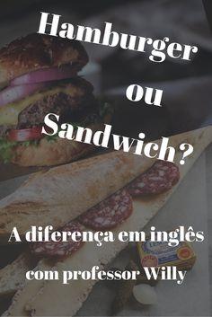 Qual é a diferença em inglês entre hambúrguer e sanduíche? Descubra neste vídeo em 5 minutos com professor Willy, norte americano e professor de inglês em Palmas, Tocantins. Veja mais dicas, vídeo aulas, e inglês em 5 minutos no YouTube. https://youtu.be/3s7bsiXtRhQ