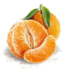 The water droplets are done very well and help to add to the real effect on the orange