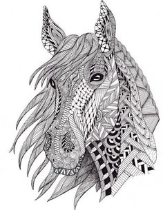 Adult Coloring Pages: Horse 3                                                                                                                                                      More
