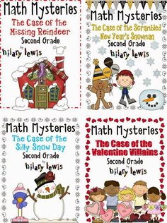 Get your graders practicing math skills without even knowing they are learning! These math mysteries are similar to the 'choose your own adventures' books of old. only kids have to figure out the answer to continue through the story! Second Grade Math, First Grade Math, Grade 3, Math Resources, Math Activities, Math Games, Winter Activities, Math Skills, Math Lessons