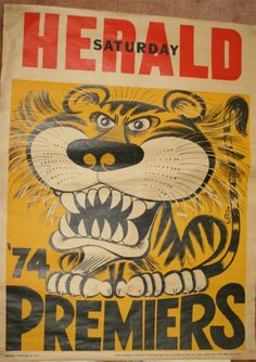 Weg Premiers Poster 1974 Richmond Tigers