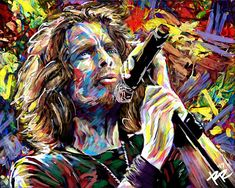 NOTHING COMPARES TO YOU!! I created this Chris Cornell Art with a mixed-medium process. Painted with many different stroke styles to reflect the feeling of the music, using wacom, acrylic, watercolor and spray paint. This is a high-quality original print on lustre photopaper, and