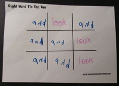 Try this: Site Word Tic-Tac-Toe