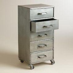 Metal 5-Drawer Jase Rolling File Cabinet | World Market $89
