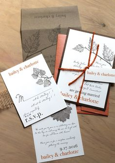 love these invites, but with a different color palette: orange, dusty pink, and blue