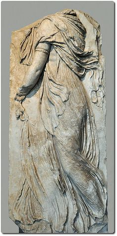 Dancing Maenad   Dancing Maenad. A female celebrant of the festivals of Dionysos. Marble relief from Pergamon. Hellenistic, late 3rd century BC. Istanbul Archaeological Museum