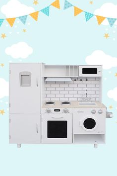 Encourage your little chef to get creative with the Prestige Play Kitchen. Heaps of appliances equip you for experimental recipes, including cooktop and range hood. The prestige even has a play washer for when things get messy. White tiles and dark grey benchtop create an ultramodern style. Locations: AUSTRALIA