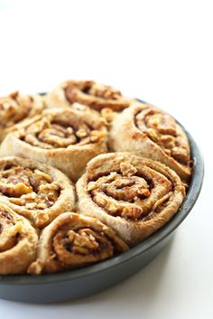 Simple banana bread cinnamon rolls made in 1 bowl with 9 ingredients. Delicious, sweet, tender, and entirely vegan.