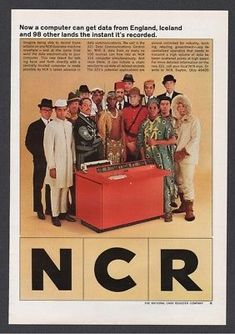1964 NCR 321 Data Communications Control Computer 100 lands Vintage Print Ad