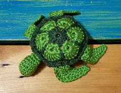 Charlie the sea turtle is a very cute turtle that can easily be made into a baby rattle or even a addition to a baby blanket