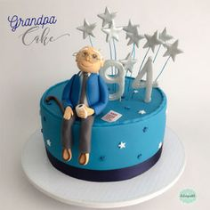 Torta de Abuelo en Medellín por Dulcepastel.com - Piezas comestibles elaboradas a mano #granpa #grandfather #grandpacake #grandfathercake #tortadeabuelo #abu #abuelo #abuelito #nono #tortasmedellin #tortaspersonalizadas #tortastematicas #cupcakesmedellin #tortasartisticas #tortasporencargo #tortasenvigado #reposteriamedellin #reposteriaartistica 90th Birthday Cakes, 85th Birthday, Birthday Ideas, Dad Cake, Popular Birthdays, Batman Cakes, Cake Decorating Supplies, Cakes For Boys, Sweet Cakes