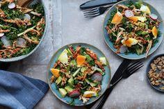 Påskesalat med pulled chicken og asparges