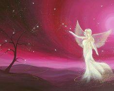 Beperkte engel kunst foto abstracte engel schilderen