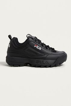 affd1d224a4a3 FILA Disruptor Women s Core Black Trainers