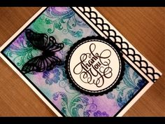 Use Zig Clean Color Brush Markers and embossing to Watercolor a background in this card making video! You can also us other watercolor markers and paints to . Stamp Tv, Card Tutorials, Video Tutorials, Deco Foil, Ink In Water, Anna Griffin Cards, Colouring Techniques, Embossed Cards, Butterfly Cards