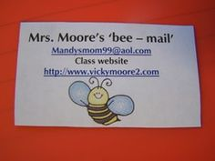 give parents a magnet for their fridge at back to school night with your info on it.