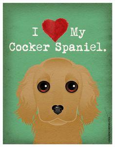I Love My Cocker Spaniel I Heart My Cocker by DogsIncorporated