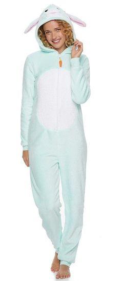 cd2c8a1b8d Juniors  SO® Bunny Costume One-Piece Pajamas