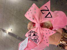 Delta zeta bow {letters+monogram+rhinestones=most fantastic bow ever}