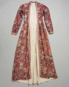 Front of wentke, made of Indian cotton chintz, lined with linen. Hindeloopen, Friesland, Netherlands, 18th century.