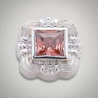6x6 mm Square Topaz Strawberry set in Sterling Silver Slide. All Sterling Silver is Rhodium plated. Metal:Sterling Silver Designer:Goldman-Kolber $ 110.00 Item #: VAUYQ9 Call 870-863-8818 for personal consultation.