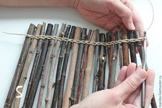 Diy Garden Cheap - Welcome OyunRet Twig Crafts, Nature Crafts, Recycled Crafts, Craft Stick Crafts, Home Crafts, Diy And Crafts, Wood Projects, Craft Projects, Garden Projects