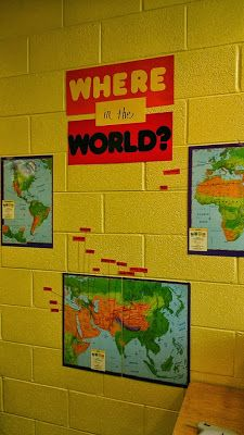 Where in the world? geography decoration Virginia World History Teacher