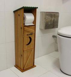 Toilet Paper Holder Bins Storage Stand Bathroom Shelf Wood Cabinet - Shower Remodeling