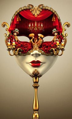 One of my favorite masks of all times: Red/Gold/Figureal, playful, exotic, my style