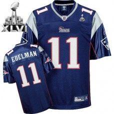 Patriots  11 Julian Edelman Dark Blue Super Bowl XLVI Stitched NFL Jersey  Patriots Julian Edelman c590fe5bb