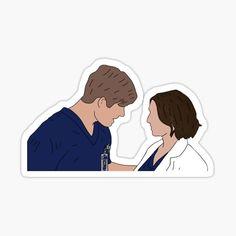 Grey's Anatomy, Greys Anatomy Book, Greys Anatomy Funny, Grey Anatomy Quotes, Tumblr Stickers, Anime Stickers, Cute Stickers, Laptop Stickers, Medical Wallpaper