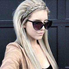 Straight Hair with Braid - Long Hairstyle Ideas 2016