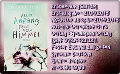 "Leserattes Bücherwelt: [Rezension] ""Aller Anfang fällt vom Himmel"" Veroni..."