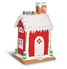 This C&H® Sugar recipe for A Gingerbread House includes all the steps, including a template, to make and decorate your own house.
