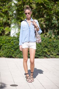 The ubiquitous summer shoe to pair with everything from cut-off shorts to a floral sundress.   - HarpersBAZAAR.com