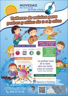 Escuela de Música Mari Trini en Torre del Mar. Talleres para padres y niños.