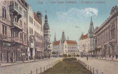 Cluj, Calea Regelui Ferdinand , interbelica Ferdinand, Street View, Places, Painting, Art, Art Background, Painting Art, Kunst, Paintings